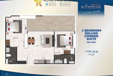 Arcadia-Millennium-Tower-Condo-Pattaya-купить-квартиру-в-Паттайе-аренда-апартаментов-агентство-недвижимости-Royal-Property-Type-2B-B-70-sqm-1024x724