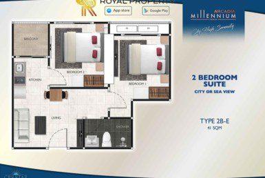 Arcadia-Millennium-Tower-Condo-Pattaya-купить-квартиру-в-Паттайе-аренда-апартаментов-агентство-недвижимости-Royal-Property-Type-2B-E-41-sqm-1024x724