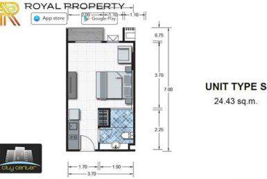 City-Center-Residence-Condominium-Resort-Central-Pattaya-купить-квартиру-в-Паттайе-снять-апартаменты-агентство-недвижимости-Royal-Property-room-plan-S
