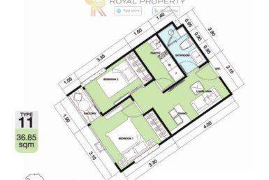 Copacabana-Golf-Jomtien-Pattaya-купить-квартиру-в-Паттайе-снять-в-аренду-апартаменты-агентство-недвижимости-Royal-Property-11-1024x736