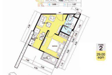 Copacabana-Golf-Jomtien-Pattaya-купить-квартиру-в-Паттайе-снять-в-аренду-апартаменты-агентство-недвижимости-Royal-Property-2-1024x736