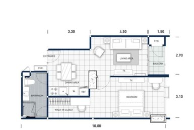 One-Tower-Pratumnak-Pattaya-unit-plan-TypeB1-OneBed-недвижимость-в-Таиланде-купить-квартиру-снять-в-аренду-Royal-Property-724x1024