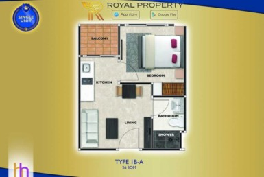 arcadia-beach-continental-unit-plan-condominium-thappraya-купить-квартиру-в-Паттайе-снять-в-аренду-Royal-Property-Thailand-Type-1bdr-A-26-1024x658