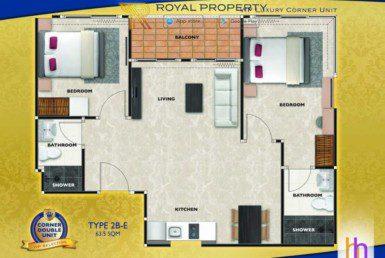 arcadia-beach-continental-unit-plan-condominium-thappraya-купить-квартиру-в-Паттайе-снять-в-аренду-Royal-Property-Thailand-Type-2bdr-E-635-1024x658