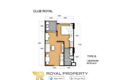 club-royal-wongamat-condominium-unit-plan-купить-квартиру-в-Паттайе-снять-в-аренду-Royal-Property-Thailand-B