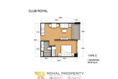 club-royal-wongamat-condominium-unit-plan-купить-квартиру-в-Паттайе-снять-в-аренду-Royal-Property-Thailand-C