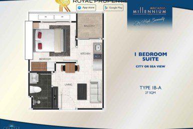 Arcadia-Millennium-Tower-Condo-Pattaya-купить-квартиру-в-Паттайе-аренда-апартаментов-агентство-недвижимости-Royal-Property-Type-1B-A-27-sqm-1024x724