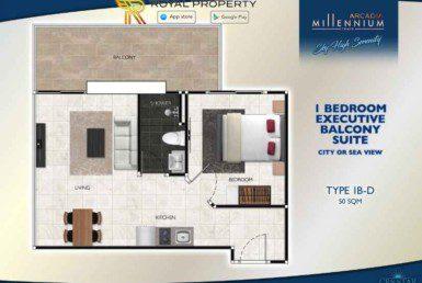 Arcadia-Millennium-Tower-Condo-Pattaya-купить-квартиру-в-Паттайе-аренда-апартаментов-агентство-недвижимости-Royal-Property-Type-1B-D-50-sqm