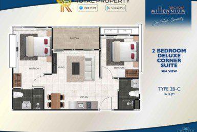 Arcadia-Millennium-Tower-Condo-Pattaya-купить-квартиру-в-Паттайе-аренда-апартаментов-агентство-недвижимости-Royal-Property-Type-2B-C-56-sqm-1024x724