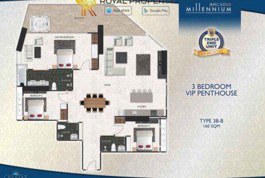 Arcadia-Millennium-Tower-Condo-Pattaya-купить-квартиру-в-Паттайе-аренда-апартаментов-агентство-недвижимости-Royal-Property-Type-3B-B-160-sqm-1024x724