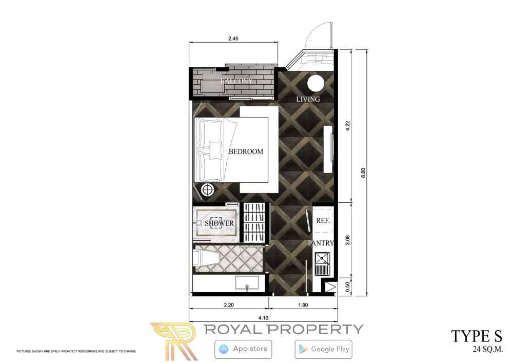 Espana-Condominium-Resort-Jomtien-Pattaya-недвижимость-в-Таиланде-купить-снять-планировка-type-S-2-MIRROR