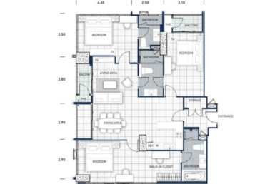 One-Tower-Pratumnak-Pattaya-unit-plan-TypeK-ThreeBed-недвижимость-в-Таиланде-купить-квартиру-снять-в-аренду-Royal-Property-724x1024