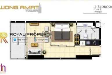 Wongamat-Tower-Naklua-Pattaya-unit-plan-ROOM-B-купить-квартиру-в-Паттайе-Таиланд-агентство-недвижимости-Royal-Property-1024x621