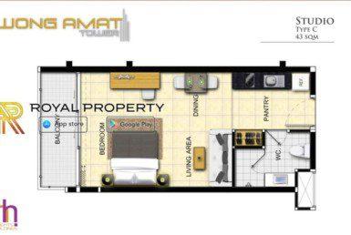Wongamat-Tower-Naklua-Pattaya-unit-plan-room-c-купить-квартиру-в-Паттайе-Таиланд-агентство-недвижимости-Royal-Property-1024x621
